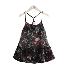 Girls Dress Kids 2017 Summer Fashion Pattern Printing Dress For Girl Kids Sleeveless Hawaiian Style Children Clothing B0244