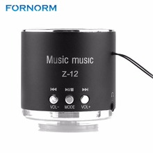 Fornorm Cylinder Portable Speaker FM Radio Z12 USB Micro SD TF Card Mp3 Mini Computer Portable Speaker(China)