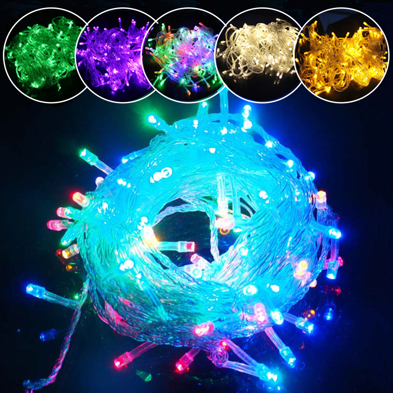 10m 100 LED Christmas Xmas Party Indoor Outdoor Fairy String Lights