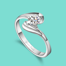 925 sterling silver ring for women Fashion simple silver zircon ring Joker silver zircon ring Buy for your girlfriend best gift(China)