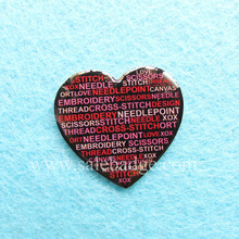 Custom Heart Shaped Offset print Black Background Lapel pin Manufactures China(China)