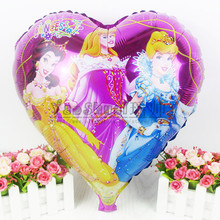 Lucky 50pcs/lot 45*45 cm Princess Aluminum Balloons For Child Party Supplies Decoration Mylar Balloon Inflatable Globos Toys
