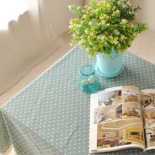 2015 Crochet Linen Tablecloth Rectangle Table Cloth For Wedding Janpan Style Dot Design Printed Tables Covers Home Decoration