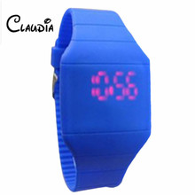 CLAUDIA Children's Classical LED Fashion Colorful Fashion The Jelly Ultra-Thin Silicone Sport Wrist Watch Freeshipping&Wholesale