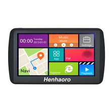 "Car GPS Navigation Android 7"" Capacitive touch screen Navigator Bluetooth Quad-core russia Navitel Europe map truck gps sat nav"