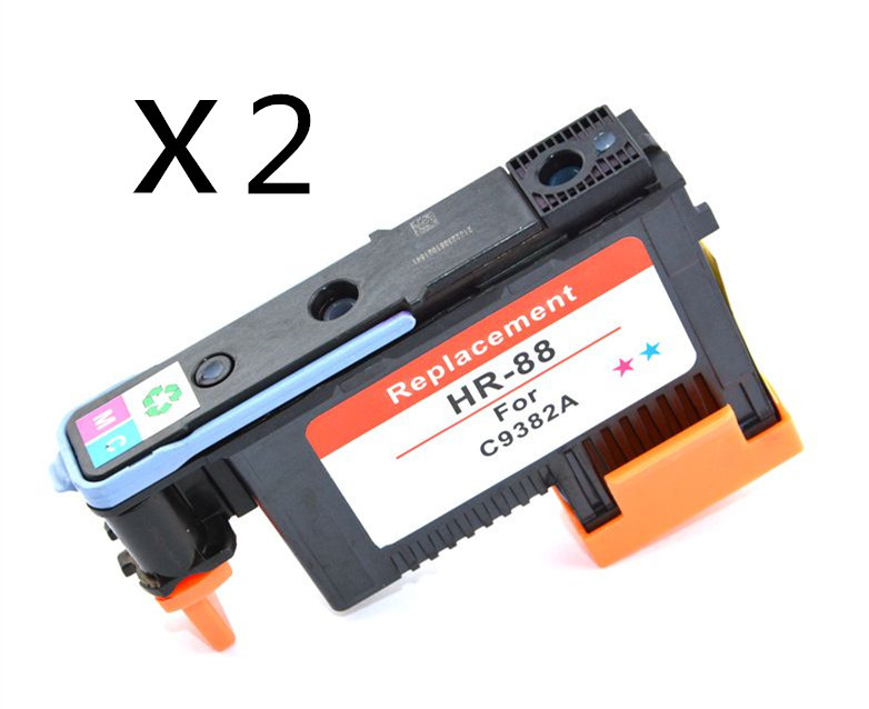 2pcs/set Remanufactured Printer head for HP88 C9382 printhead for HP K550 K5400 K8600 L7000 L7480 L7550 L7580<br><br>Aliexpress