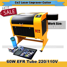 High Quality 60W CO2 Cutting 2D 3D Crystal Laser Engraving Machine TS4060 with 400*600mm working size(China)