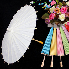 White color paper umbrella wedding decoration children painting umbrella kindergarten hand DIY