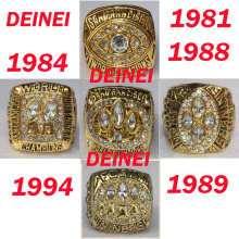 1981 1984 1988 1989 1994 all San Francisco 49ers Super Bowl replic championship rings US Size 11 on sale(China)