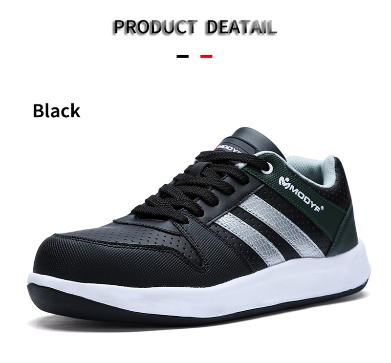Modyf Men Safety Shoes Steel Toe Work Shoes Flats Casual Protective Footwear 14