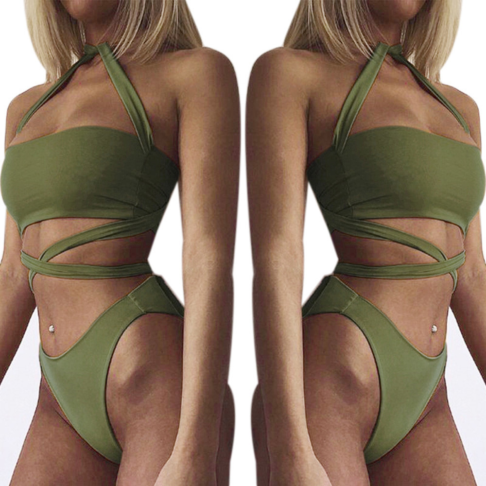 Women's Bandage Swimwear One Piece Swimsuit Push Bikini Women Brassiere Sexy Lingerie women sexy bra set intimates Female