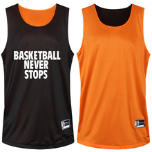 Reversible Two-sided Clothes Men's Basketball Set M-5XL Team Sportear Shirt +Shorts Suit Summer Custom DIY Breathable Quick dry