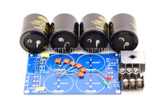 High Power HiFi 10000uF50V 35A Dual Power Rectifier Filter Power Supply Board Kit  For Power Amplifier