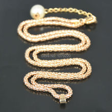 Fashion Snake Long Link Chain Sweater Bead Necklace Jewelry For Women Charm Love Gift