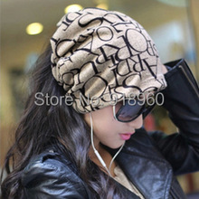 unisex Spring  Autumn beanie men hats, Word print 3 wearing ways Skull Chunky Baggy Warm touca beanie women cap,gorros carhart,