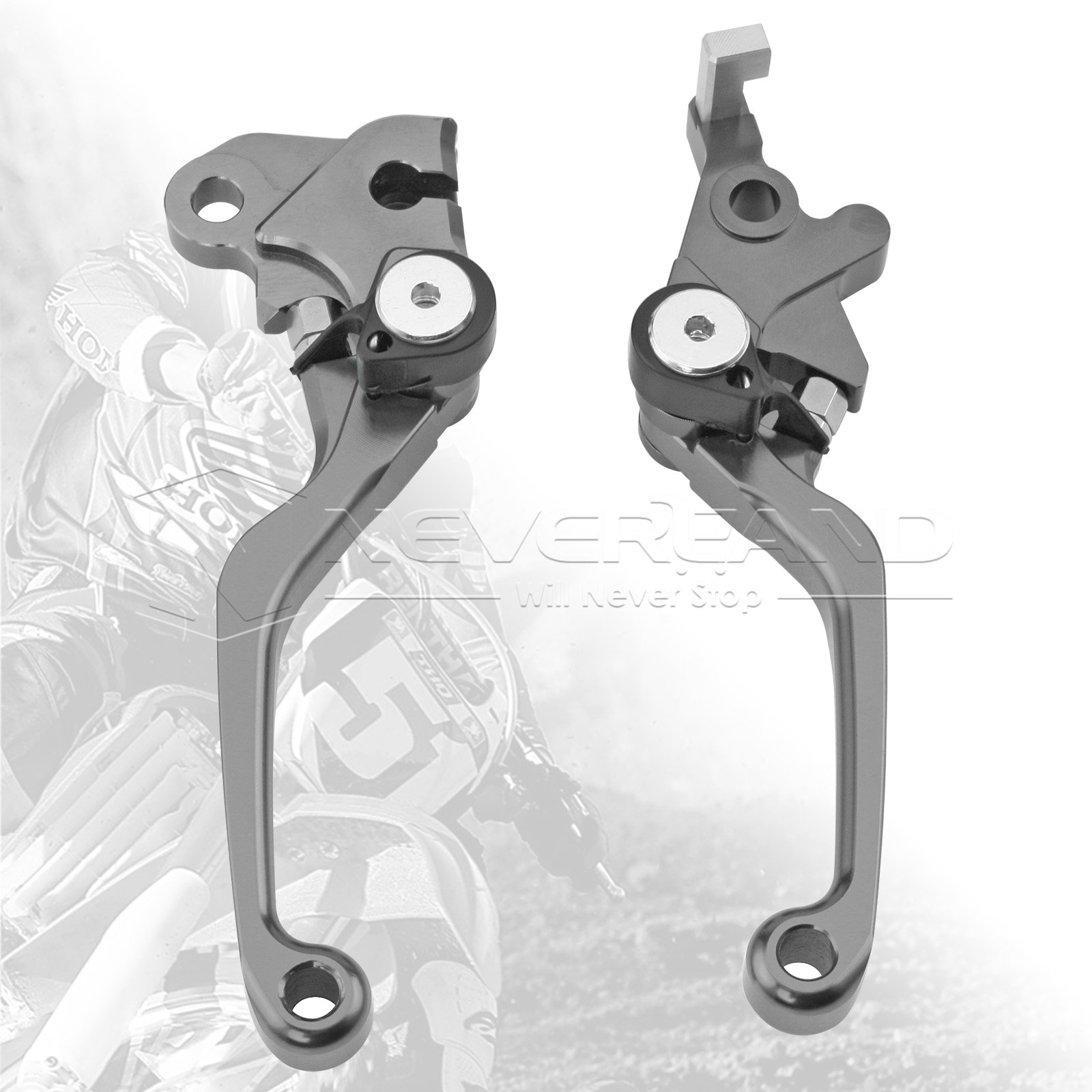One Pair CNC Pivot Brake Clutch Levers For Honda SL230 1997-2004 XR230/MOTARD 2005-2012 L03K/R05K Titanium D10<br><br>Aliexpress