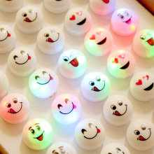 2017 Led Wedding Dress Smile Finger Ring Mixed Styles Toys For Party Club Christmas Decoration Novelty Boy Girl Gift 50pcs/lot(China)