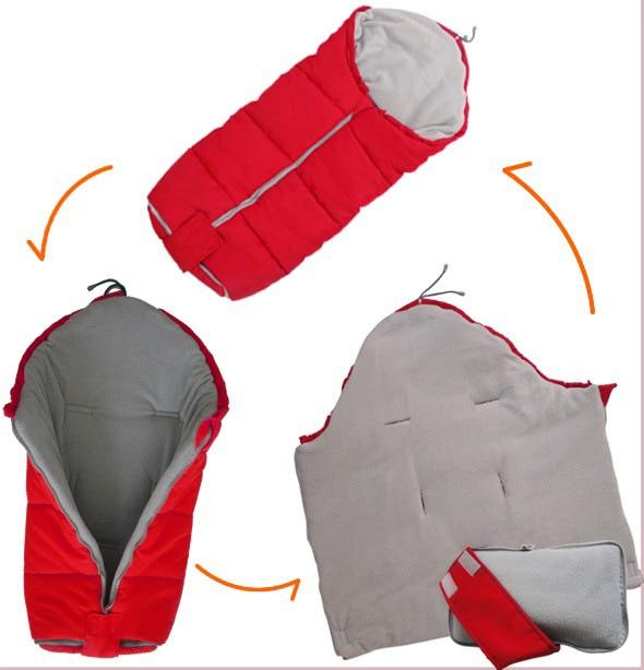 Зимний спальный мешок в коляску