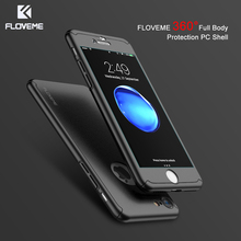 FLOVEME 360 Full Body Armor Case For iPhone 7 iPhone 6 6S Cover Screen Protector Phone Cases For iPhone 7 6 6S Plus Accessories