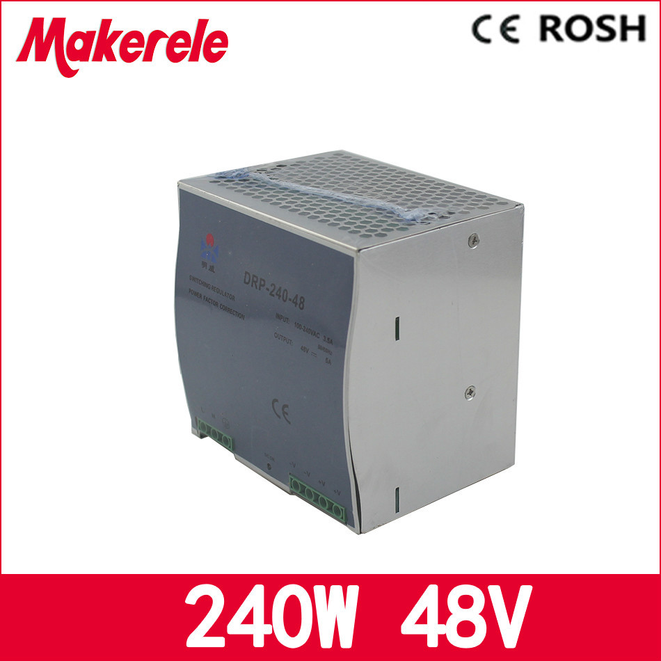 5a 240w 48v DRP-240-48 Switching power supply with CE wide range input ac dc power supply<br>