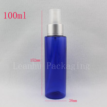 100ml blue refillable empty plastic spray pump bottles,100cc botellas de maquillaje,perfumes and fragrances makeup setting spray(China)