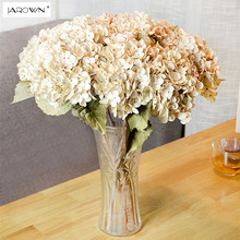 Artificial Hydrangea Silk Flower 1 big flowerBouquet Fleur Artificielle Flores Arrange Table Wedding Home Decor Party accessory