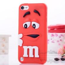 Fragrance M&M'S Chocolate 3D Cartoon Candy Colorful Rainbow Beans Soft Silicon Rubber Case Cover for Apple iPod Touch 5 5G