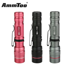 Mini Penlight 800LM Waterproof LED Flashlight Torch 3 Modes Zoomable Focus Lantern Portable Flashlight Black Gray Pink