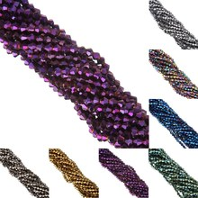 LNRRABC 4mm Glass Crystals Loose Faceted Bicone Beads for DIY Bracelet Necklace Jewelry Making Free Shipping