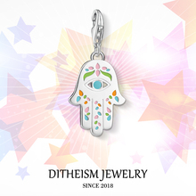 Buy Colorful Hand Fatima Charms Pendant,2018 Jewelry 925 Sterling Silver Religious Gift Women Girls Fit Bracelet Necklace Bag for $4.77 in AliExpress store