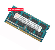 Lifetime warranty For hynix DDR3 4GB 8GB 1333MHz PC3-10600S Original authentic DDR 3 4G notebook memory Laptop RAM 204PIN SODIMM