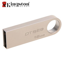 Kingston 16GB 32GB usb flash drive High Speed Data usb 2.0 dtse9 USB stick pendrive Metal usb flash U Disk pen drive Cool gift