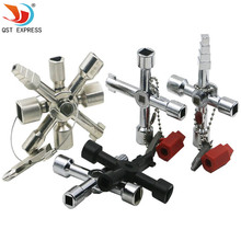 QSTEXPRESS Multi-Model 10 In 1 Universal Cross Key Plumber Keys Triangle For Gas Electric Meter Cabinets Bleed Radiators
