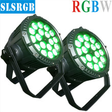 2pcs/lot sls lighting disco light+18*12W 4IN1 OUTDOOR PAR LED PAR 64 indoor dmx stage lighting disco dj par light