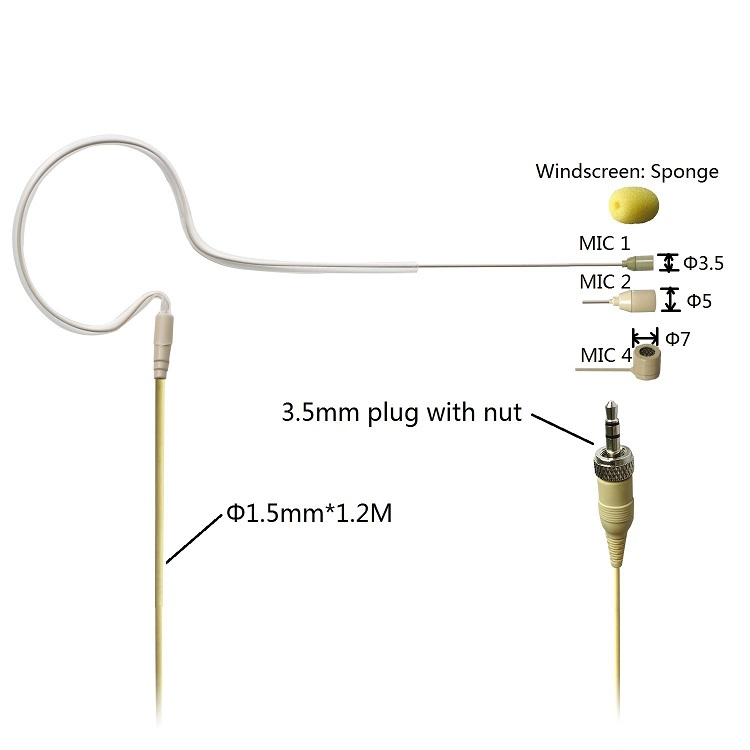 L4A   01-2  single ear headset microphone