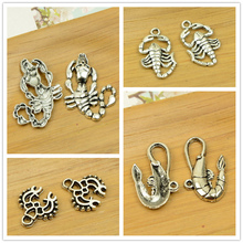 ocean animal shape pendant sea shrimp/lobster/scorpion charm diy jewerly finding accessories man bracelet necklace free shipping