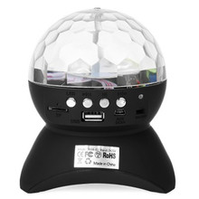 LED Crystal Ball Party/ Disco DJ Bluetooth Speaker With Built-In Light Show,RGB Color Changing Stage & Studio Effects Lighting