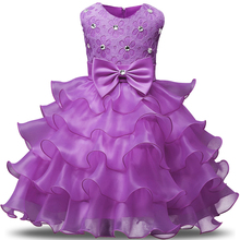 New Birthday party girl dress for girls clothes kids dresses Summer 2017 Formal wear Wedding princess tutu infant dress girl(China)