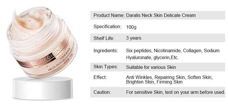 100g Six Peptides Neck Cream Anti Wrinkle Remove Neck Mask Whitening Firming for Neck Skin Care Delicate and Slippery 3