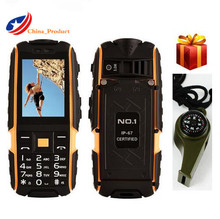 Whistle Gift!(24 hours shipping) DTNO.I A9 Russian keyboard 4800mAh battery IP67 Waterproof shockproof phone mobile cell phones(China)