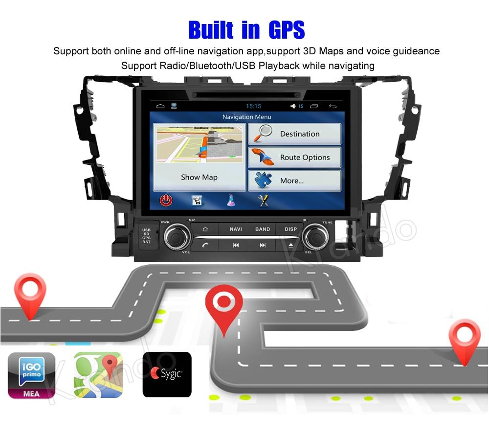 Krando toyota alphard Android car radio gps navigation multimedia system (5)
