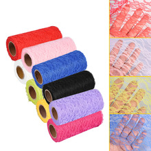 10 Yard DIY Netting Fabric Wedding Party Decoration Table Chair Sash Bow Runner Floral Lace Tulle Roll(China)