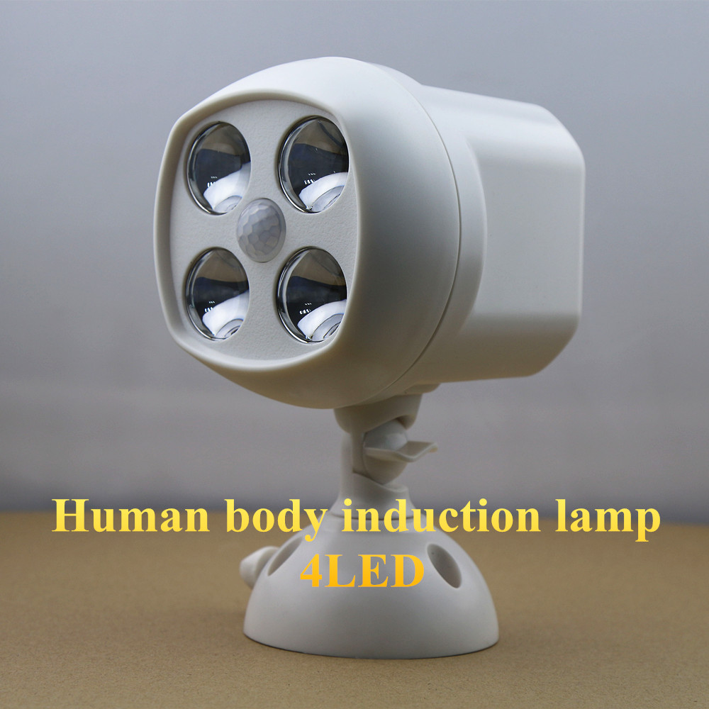 NEW LED Night Light 2W 4 LEDs Light Infrared Human Body Motion Activated Cordless Auto Detection Induction Lamp for Home Office<br><br>Aliexpress