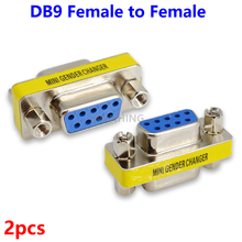 2pcs New 9Pin RS232 Serial Port Connector Adapter DB9 Female to Female Plug Connecter 9 Pin RS232 COM Socket Adapter HY497*2