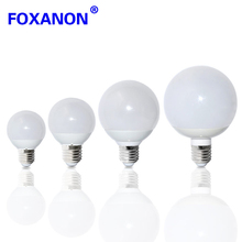 Foxanon E27 LED Bulb 360 degree 220V 3W 5W Light 85-265V 7W 9W 12W 15W Bubble Ball Lamp For Chandelier Pendant lighting A60- A90(China)