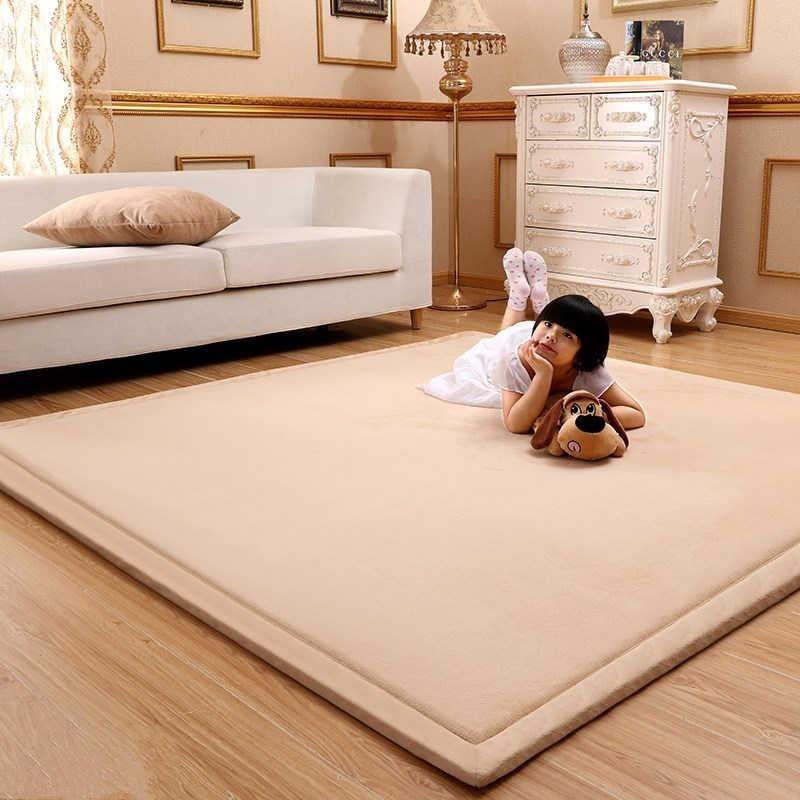 Super Comfortable Tatami Fleece Coral Velvet Carpet For Living Room Bedroom  Area Rugs Coffee Computer Table Children Play Mat