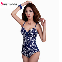 Buy 2018 Retro Vintage One Piece Swimsuit Women Sexy Plus size Swim suit Female Floral Print Swimwear One-piece Monokini Beach wear