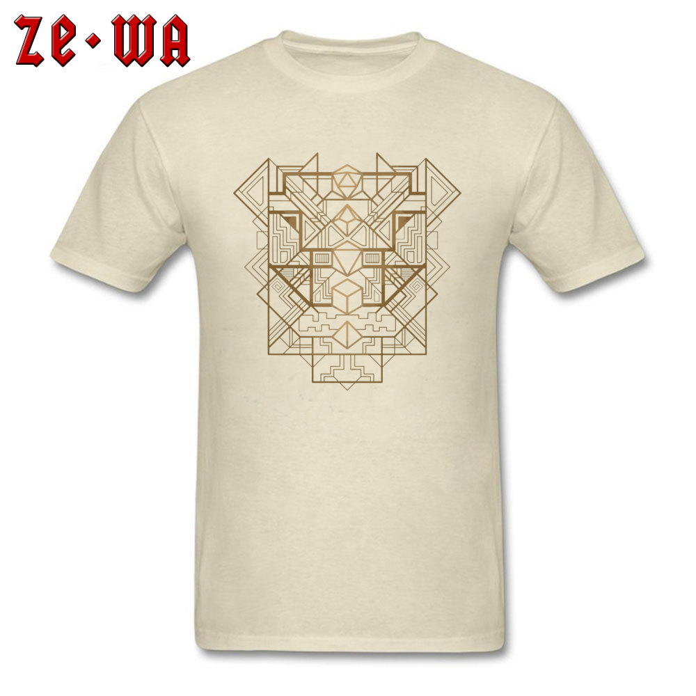Dice Deco Gold 2034 T Shirts Fashion Short Sleeve Normal 100% Cotton Round Neck Men Tees Casual Sweatshirts Autumn Dice Deco Gold 2034 beige