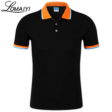 LOMAIYI Cotton Slim Fit Polo Shirt Men Women 2017 Summer Short Sleeve Men's Polos Shirts Male Work Casual Camisa Polo,BM039