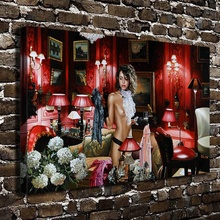 A2413 Sexy Girl Naked Indoor Art Figure Scenery.HD Canvas Print Home decoration Living Room bedroom Wall pictures Art painting